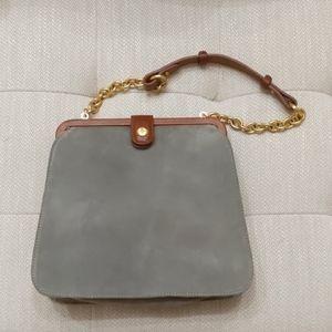 Brahmin grey suede hand purse